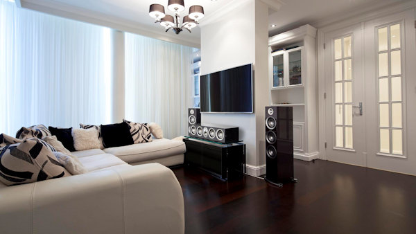 residential audio video using paradigm speakers