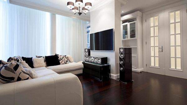 residential audio video using paradigm speakers